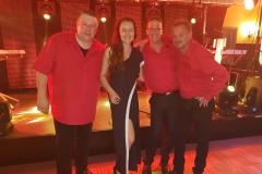 Gruppenfoto mit Mela, Uwe, Franki und Marc.